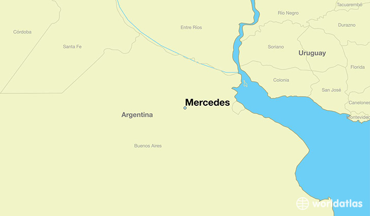 Where is mercedes argentina mercedes buenos aires fd map map showing the location of mercedes gumiabroncs Choice Image