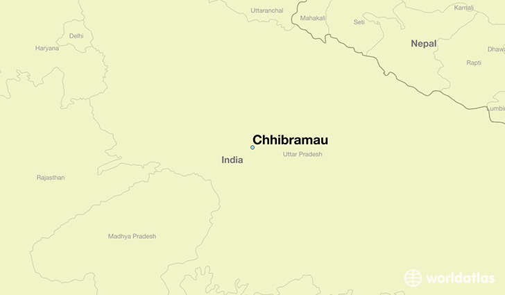 map showing the location of Chhibramau