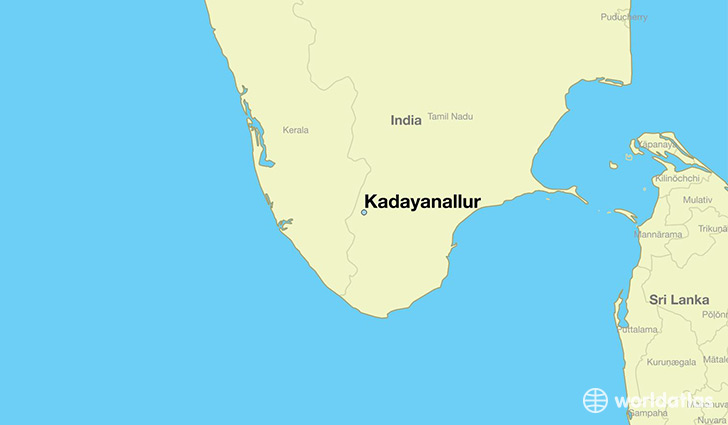 map showing the location of Kadayanallur