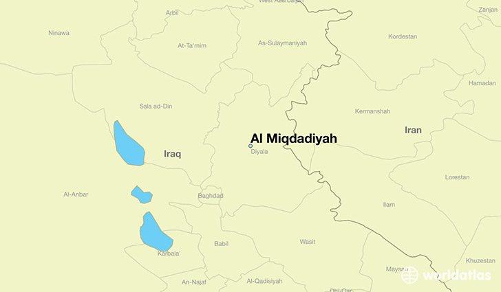 map showing the location of Al Miqdadiyah