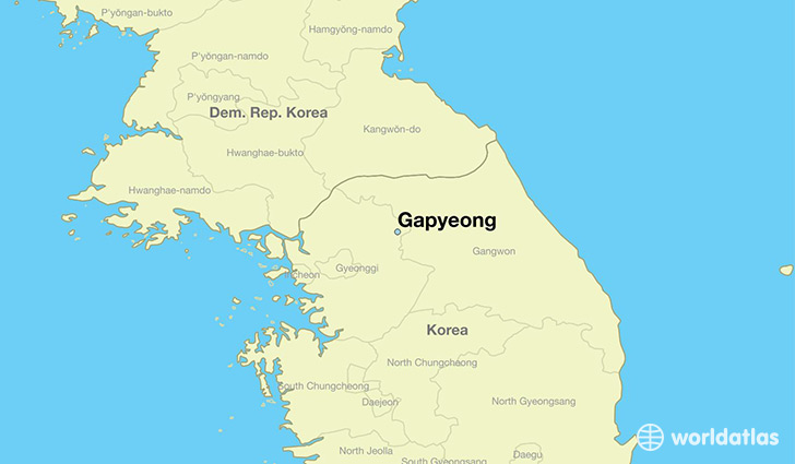 map showing the location of Gapyeong
