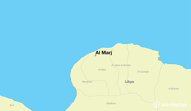 map showing the location of Al Marj