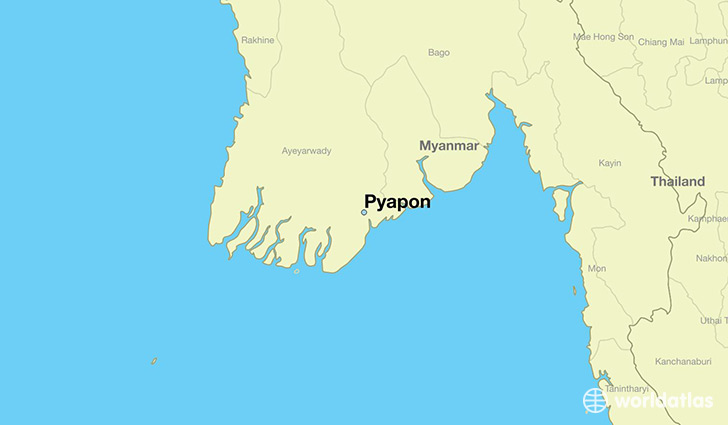 map showing the location of Pyapon