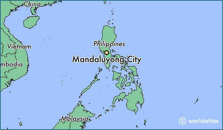 map showing the location of Mandaluyong City