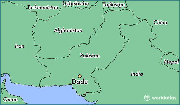 map showing the location of Dadu