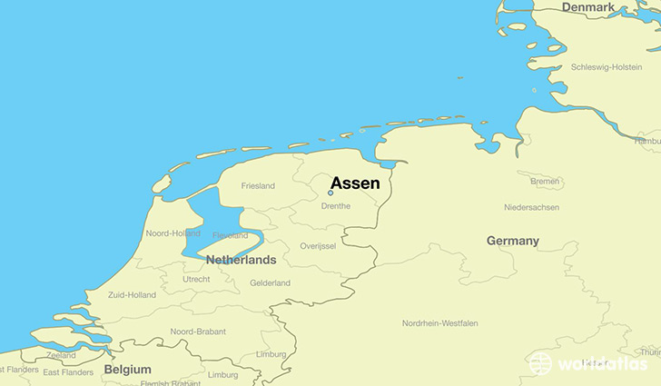 map showing the location of Assen