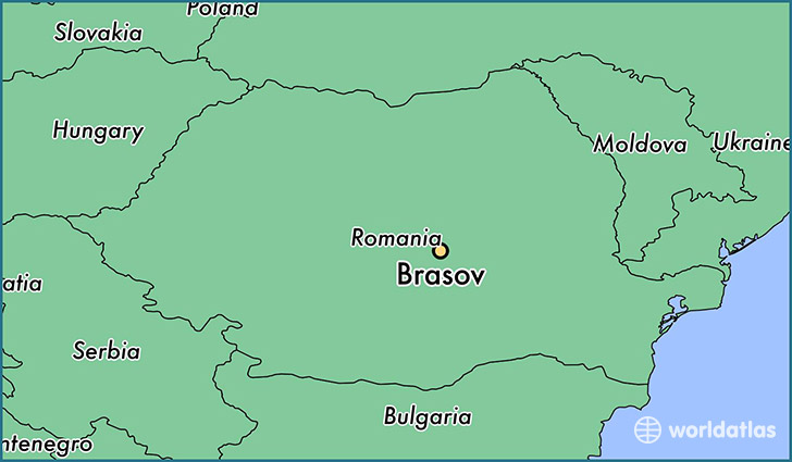 map showing the location of Brasov