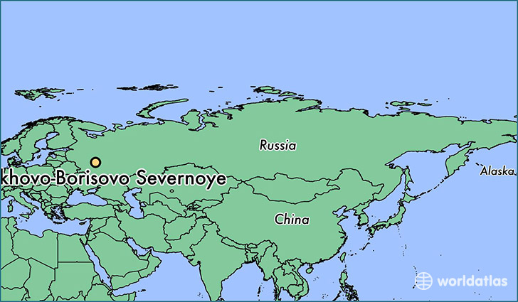 map showing the location of Orekhovo-Borisovo Severnoye