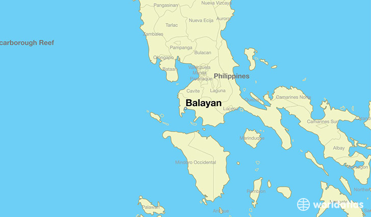 map showing the location of Balayan