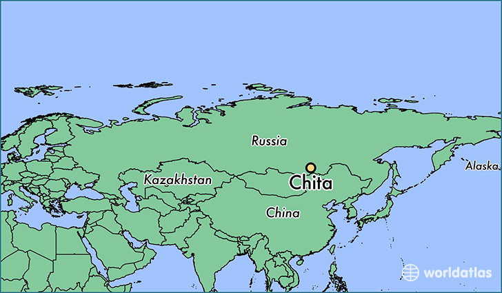 map showing the location of Chita