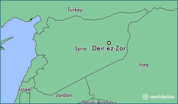 map showing the location of Deir ez-Zor