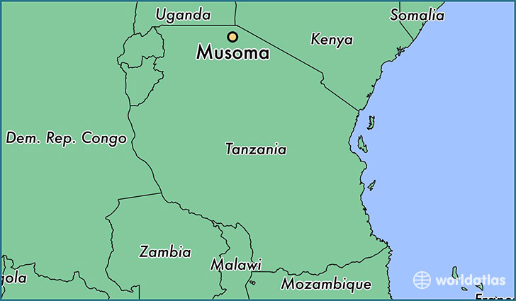 map showing the location of Musoma