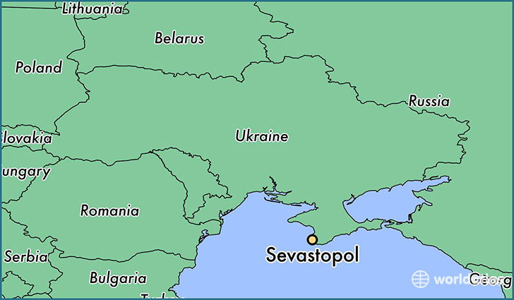 map showing the location of Sevastopol