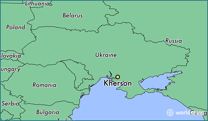 map showing the location of Kherson