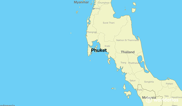 map showing the location of Phuket