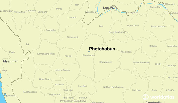 map showing the location of Phetchabun