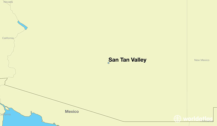 Where is San Tan Valley, AZ? / San Tan Valley, Arizona Map