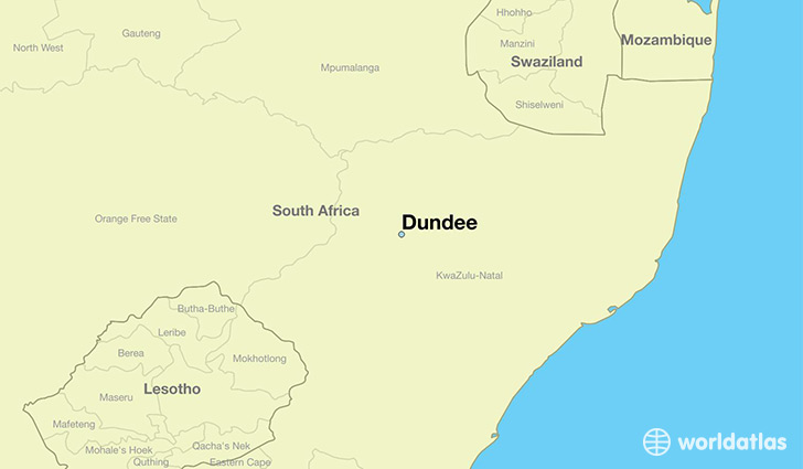 map showing the location of Dundee