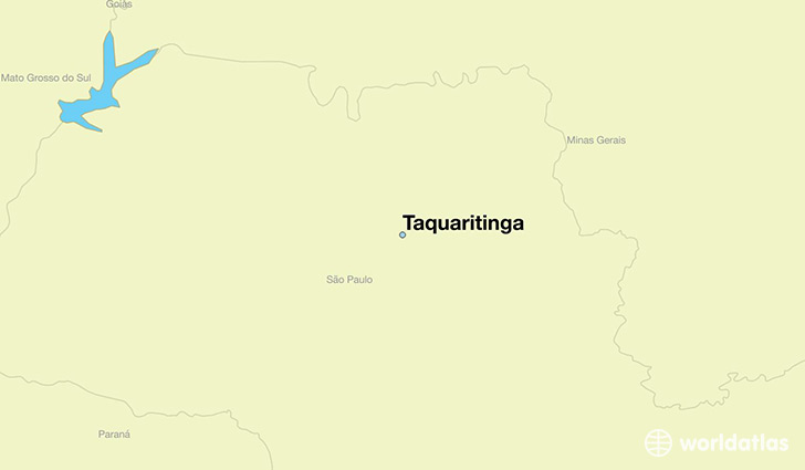 map showing the location of Taquaritinga
