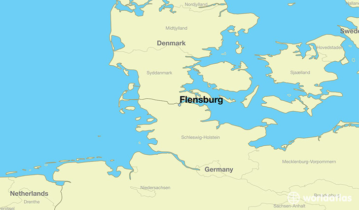 Where is Flensburg Germany Flensburg SchleswigHolstein Map