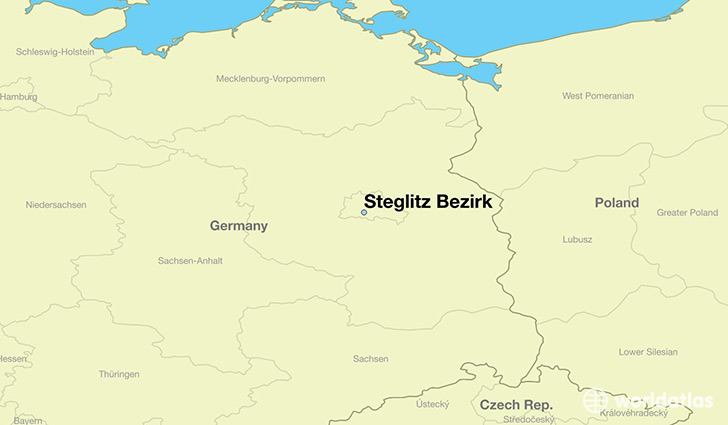 map showing the location of Steglitz Bezirk