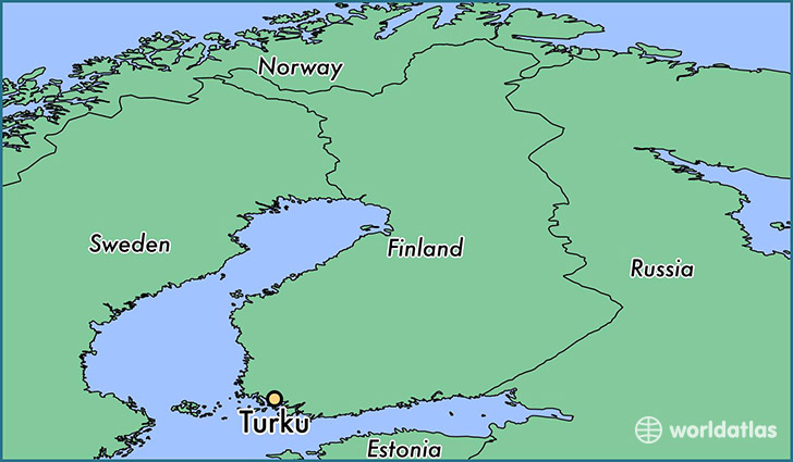 Where is Turku Finland Turku Southwest Finland Map WorldAtlascom