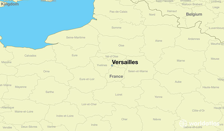 Map Of France Versailles.Where Is Versailles France Versailles Ile De France Map