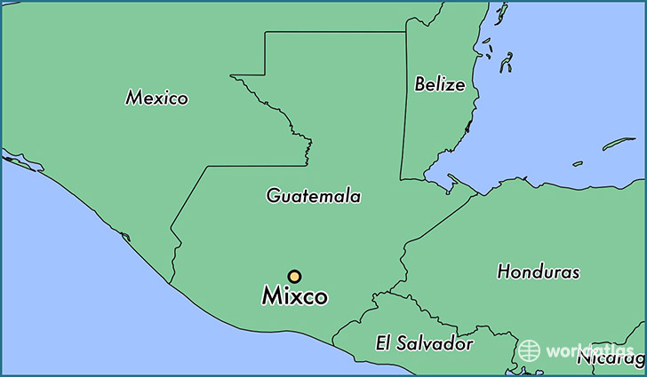 map showing the location of Mixco