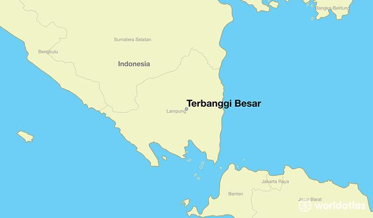 map showing the location of Terbanggi Besar