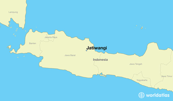 map showing the location of Jatiwangi