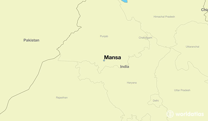 map showing the location of Mansa