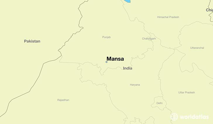 Punjab World Map.Where Is Mansa India Mansa Punjab Map Worldatlas Com