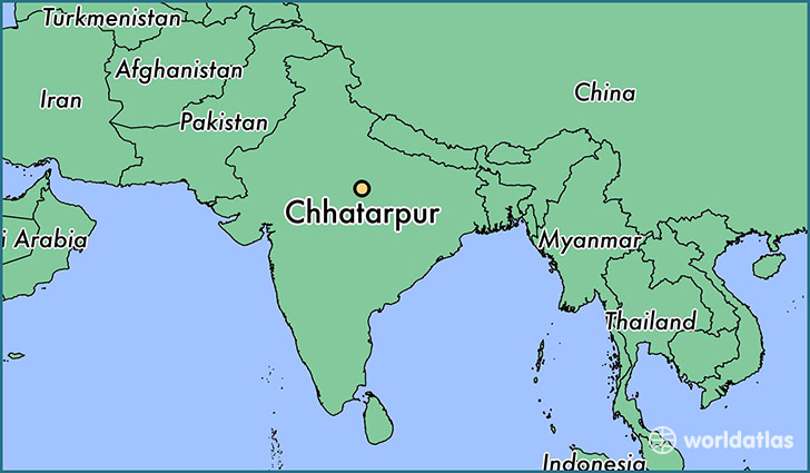 map showing the location of Chhatarpur