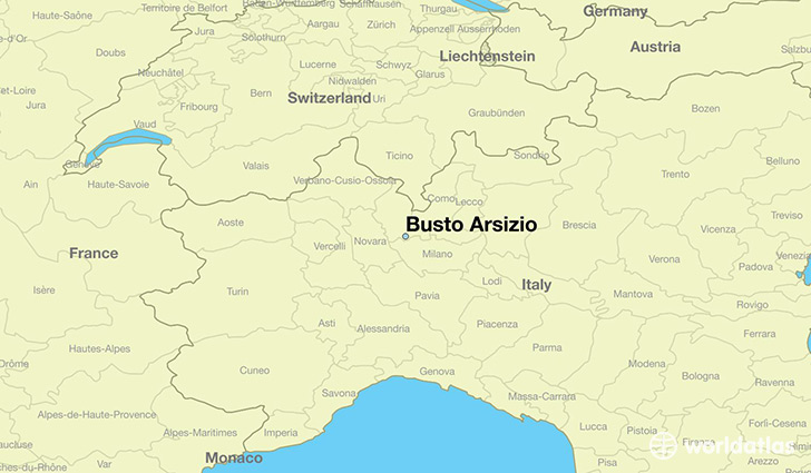 map showing the location of Busto Arsizio