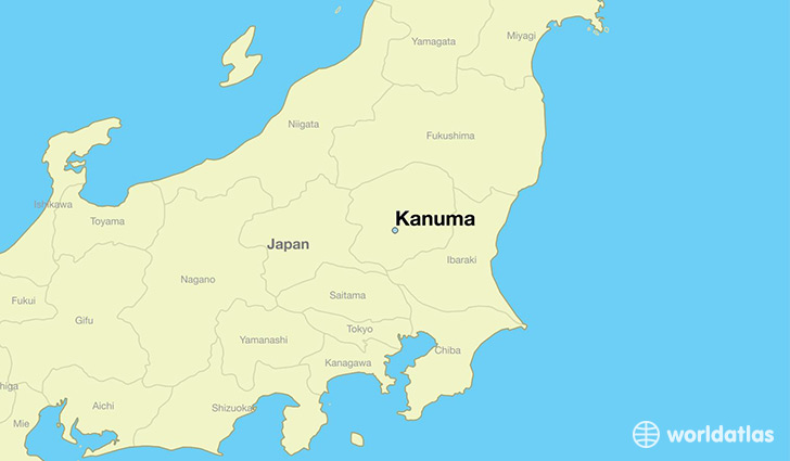 map showing the location of Kanuma