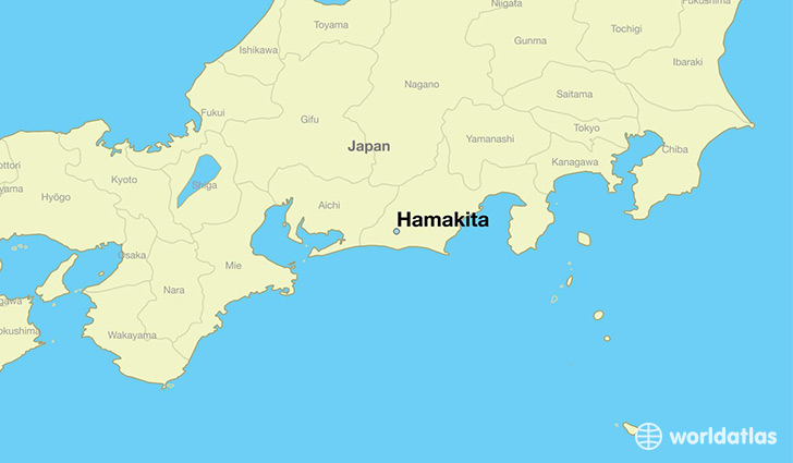 map showing the location of Hamakita