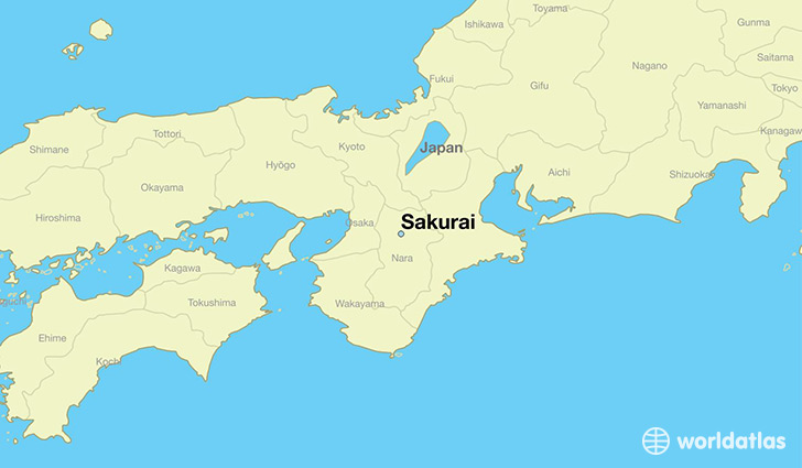 map showing the location of Sakurai