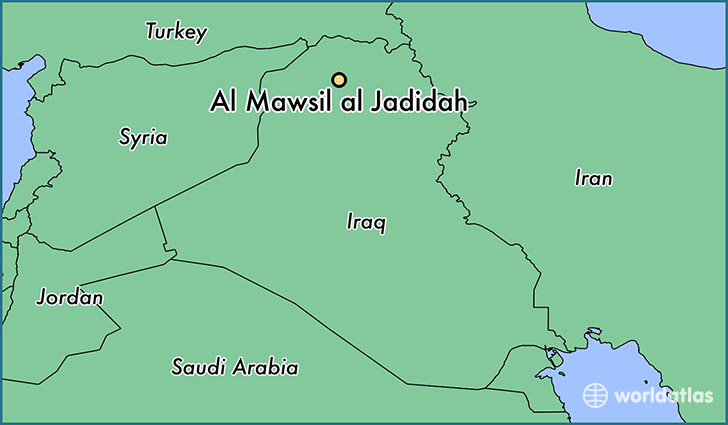 map showing the location of Al Mawsil al Jadidah