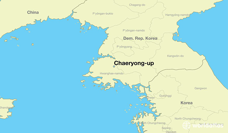 map showing the location of Chaeryong-up