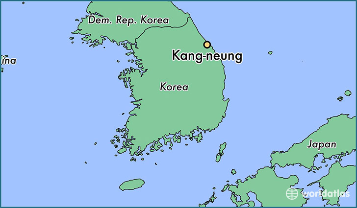 map showing the location of Kang-neung