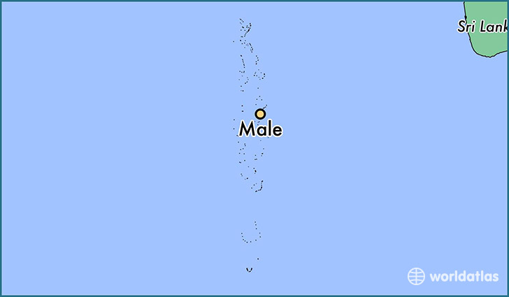 map showing the location of Male