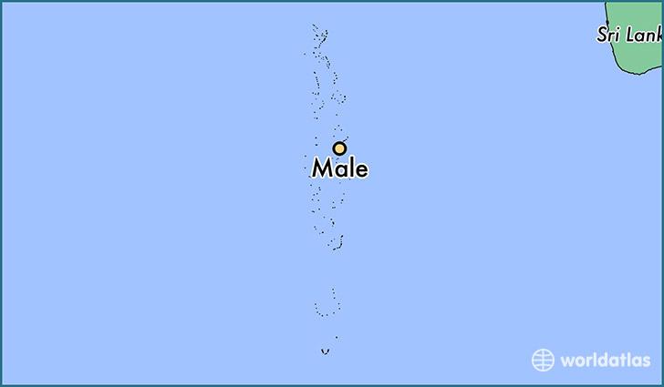Where Is Male Maldives Male Maale Map WorldAtlascom - male map