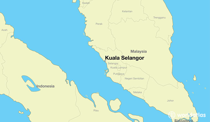 map showing the location of Kuala Selangor