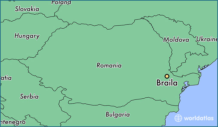 map showing the location of Braila