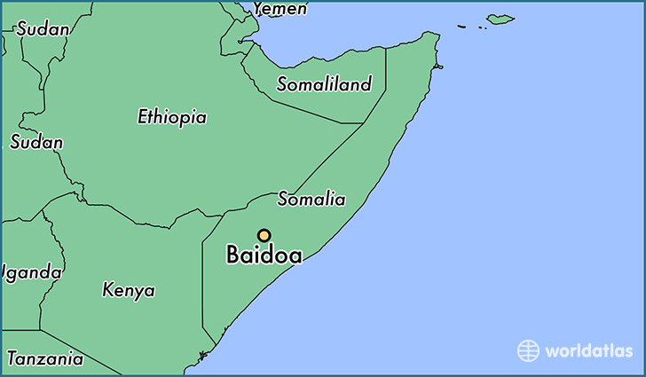 map showing the location of Baidoa