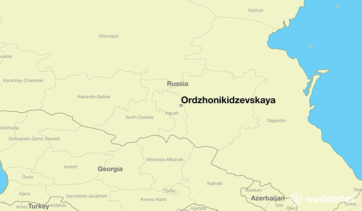 map showing the location of Ordzhonikidzevskaya