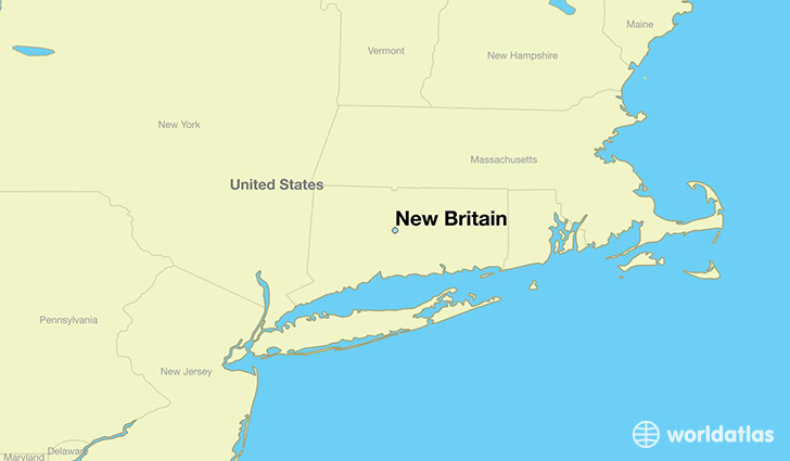 map showing the location of New Britain