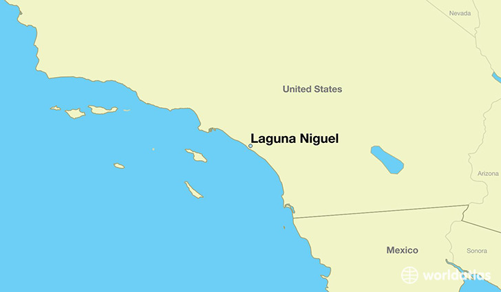map showing the location of Laguna Niguel