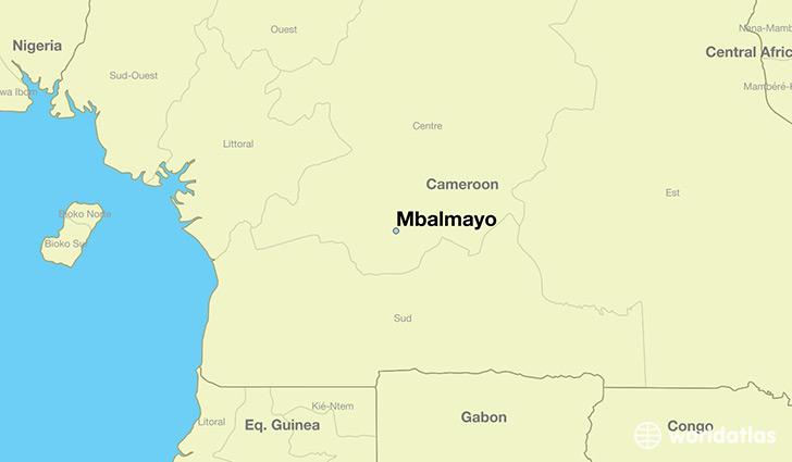 Where is Mbalmayo, Cameroon? / Mbalmayo, Centre Map - WorldAtlas.com