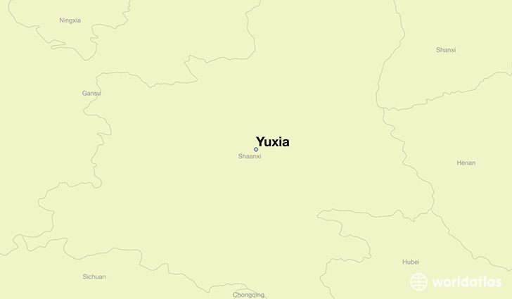 map showing the location of Yuxia